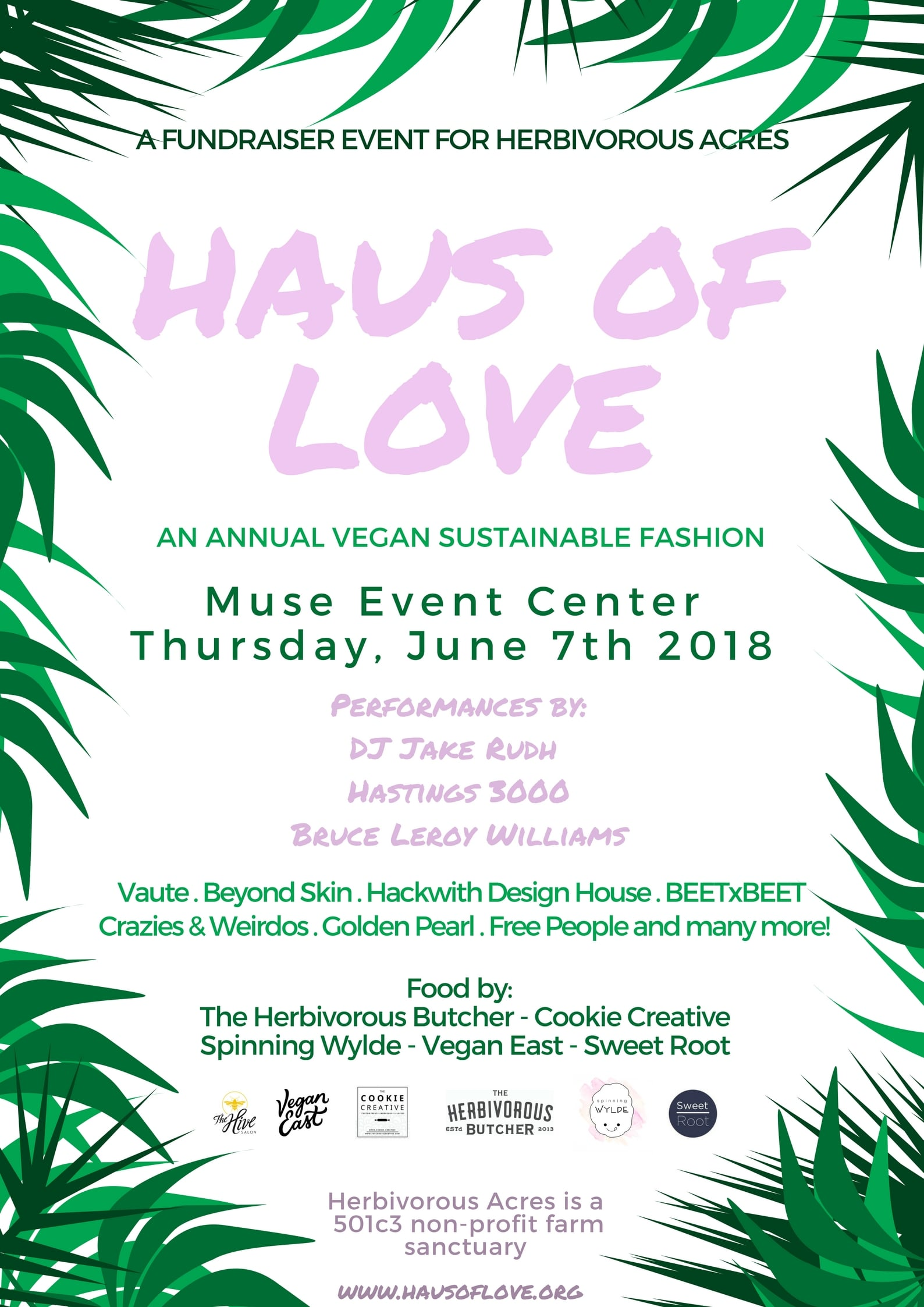 haus of love 2nd annual vegan fashion show